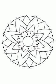 25 Printen Kleurplaten Bloemen Mandala Mandala Kleurplaat Voor