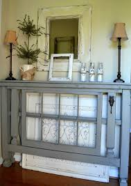 entry foyer table. Entry Table Pedestal Rustic Vintage Grey Finished Foyer With Two Shade Lamps On L