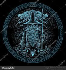 скандинавские татуировки викинг бога одина с копьем вороны