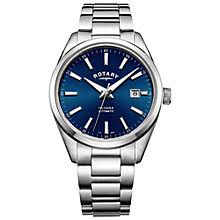 automatic or self winding men s watches john lewis buy rotary men s havana automatic date bracelet strap watch online at