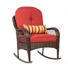 Patio furniture cushions walmart Clearance Best Choice Products Wicker Rocking Chair Patio Porch Deck All Weather Proof W Cushions Walmartcom Outdoor Cushion Cover Best Choice Products Wicker Rocking Chair Patio Porch Deck All
