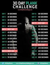 Plank Exercise Chart 30 Day Plank Challenge 30 Day Fitness 30 Day Workout