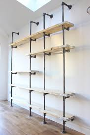 dark steel pipe wall mounted