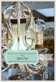 french chandelier makeover with chalk paint