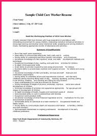 Childcare Resume Child Care Provider Resume Bio Letter Format 16