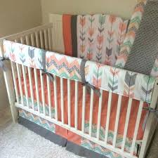 arrow crib bedding c gray mint baby girl arrows crib bedding set