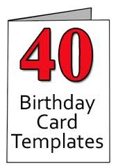 printable 21st birthday cards 40th birthday greeting card templates for word