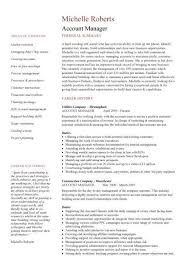 Account Manager Resume Interesting Account Manager CV Template Sample Job Description Resume Sales
