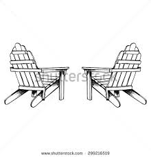 adirondack chair silhouette. Adirondack Chair Stock Images Royalty Free Vectors Rh Shutterstock Com Silhouette With Umbrella
