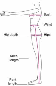 Waist To Knee Measurement Chart Measurement Guide U4u Designs African Inspired Clothing