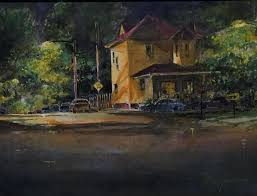 bunker hill plein air 9x12 watercolor on canvas by tom lynch 3rd place richmond va