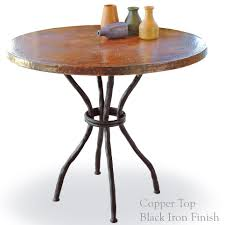Copper Top Kitchen Table Wrought Iron Woodland Bistro Table With 36in Round Top