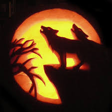 Wolf Pumpkin Carving Patterns Cool Decorating Design