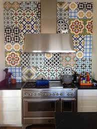 cement tile patchwork contemporary kitchen