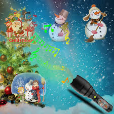 Christmas Cards With Lights And Music Us 18 67 29 Off Projection Lamp Flashlight Christmas Card Light Led12 Pattern Snowflake Kids Toy Lights Music Rechargeable Halloween Outdoors In