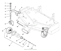 simplicity tw2061 morgan 3 wheel 20hp koh w 61 mower deck s 61 quot deck caster amp