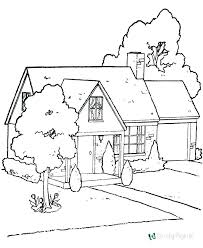 Coloring Pages Of A House Gingerbread House Coloring Pages House
