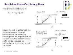 41 small amplitude oscillatory shear