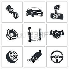car speakers clipart. car speaker: service icons collection on a white background speakers clipart