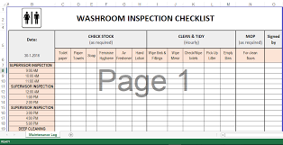 Cleaning Schedule Template In Excel Templates At