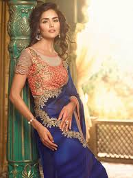 Blue Color Saree Blouse Designs Blue Color Blouse Designs Rldm