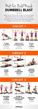 directions warm up with five minutes of light cardio then repeat each three exercise circuit three times start with 10 reps of each exercise