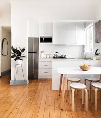 Eleven Contemporary Kitchen All White Kitchen Contemporary With Metal Plant Stand Small Space