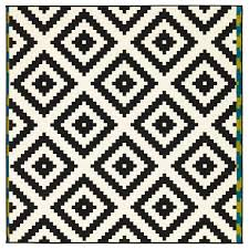 Elegant Lappljung Ruta Rug Low Pile And Ikea Black White Rug