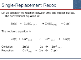 zinc reacted with copper ii sulfate