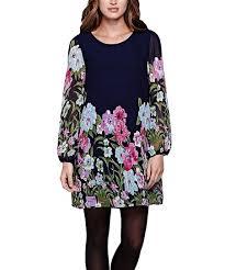 Iska London Size Chart Iska London Navy Pink Floral Tunic Dress