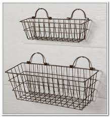 Great Hanging Wire Basket Caddy Antique Farmhouse About Hanging Wire  Storage Baskets Plan ...