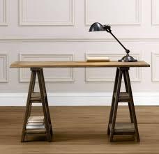 nice sample of modern sawhorse desk for working room