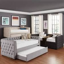 kids twin bed. Brilliant Twin Knightsbridge Twin Tufted Nailhead Chesterfield Daybed And Trundle By  INSPIRE Q Artisan On Kids Bed