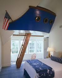 Nautical Inspired Bedrooms Bedroom Boat Ladder In Inspired Nautical Kids Room Design Create