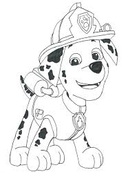 Paw Patrol Coloring Pages Marshall Coloring Pages For Kids