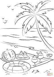 Small Picture Summer Beach Picnic coloring page Free Printable Coloring Pages
