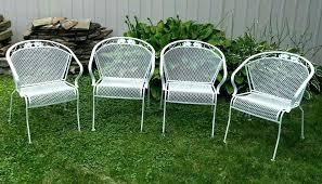wrought iron vintage patio furniture. Wrought Iron Patio Furniture 4 Vintage Metal Barrel Back Chairs