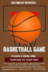 Customizable Design Templates For Basketball Flyer Postermywall
