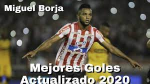 Miguel Angel Borja | Goles y Jugadas | Junior de barranquilla 2020 - YouTube