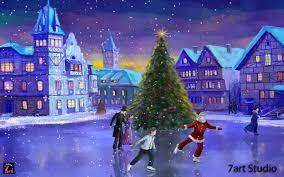 Christmas Lights Windows 10 Christmas Pc Wallpaper Windows 10 1280x800 Wallpaper