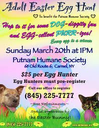 Upcoming Events Adult Easter Egg Hunt At The Putnam Humane Society