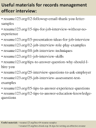 Top records manager resume samples