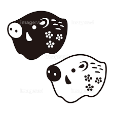 猪の置物アイコン 亥 干支 年賀素材の画像素材41129514 イラスト