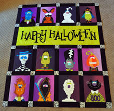 Werewolf, Death, Mummy, and Cat Halloween Quilt Blocks – the Final ... & Happy Halloween Quilt Before Borders Adamdwight.com
