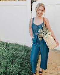 Kohls Womens Jeans Size Chart Womens Lc Lauren Conrad Button Down Jean Jumpsuit In 2019