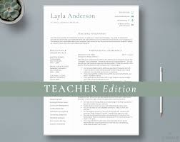 Principal Resume Template Teacher Resume Template 2 Page Teacher Cv Template Education Resume Teaching Resume Administration Resume