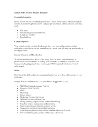 Resume Examples Mba Template Sample Harvard Word Pdf Wharton Look