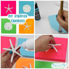 diy starfish canvases