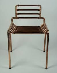 An architectural copper tubing chair