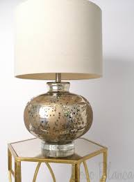 lighting beautiful mercury glass table lamp for home ideas